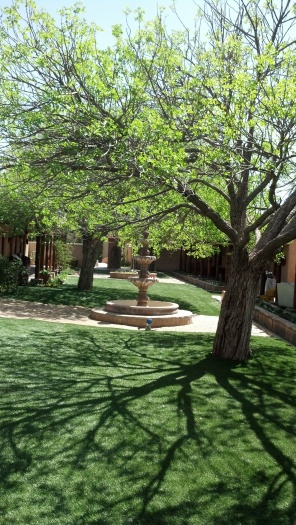 The beautiful Sage Hotel courtyard