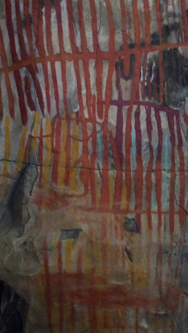 Ancient cave paintings found in the Big Bend area.