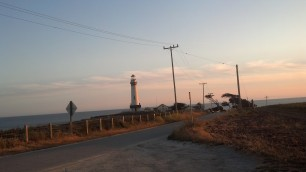 Road by the Pigeon Point Lighthouse
