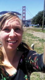 Whitney in front of Golden Gate