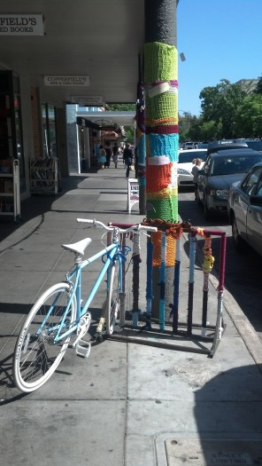 Yarn Bombing Petaluma, CA